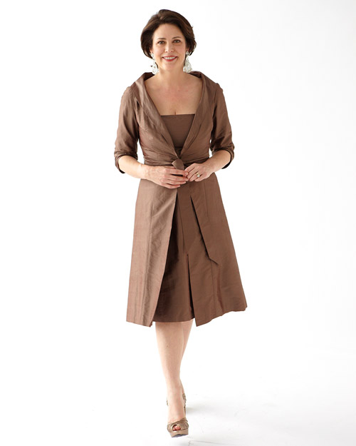 Brown Dress with Jacket