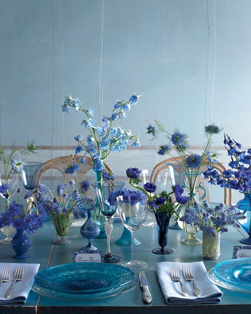 Blue Wedding Centerpiece