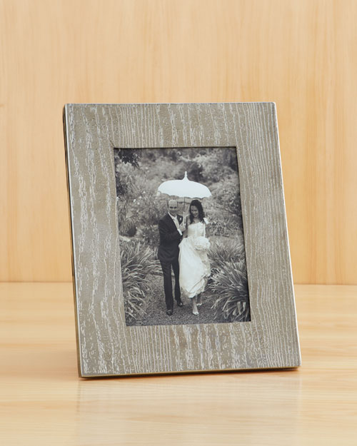 At Night: Wood-Grain Picture Frame