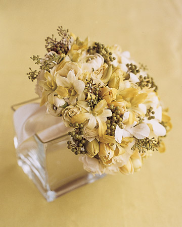 Pale-Green and White Bouquet
