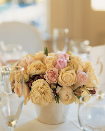 Centerpieces with Garden Roses