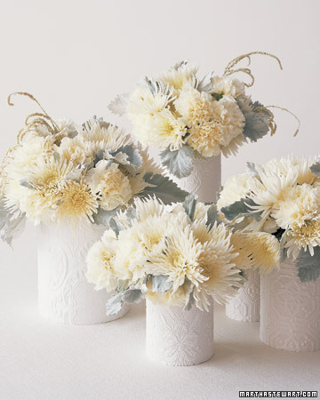 Winter-White Centerpieces