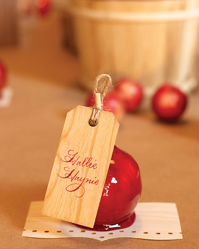 Candy-Apple Place Card