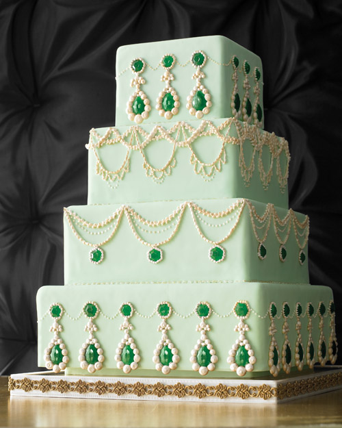 Wedding Cake with Opulent Jewels