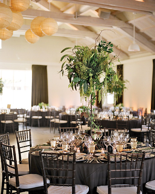 Large Green Wedding Centerpieces