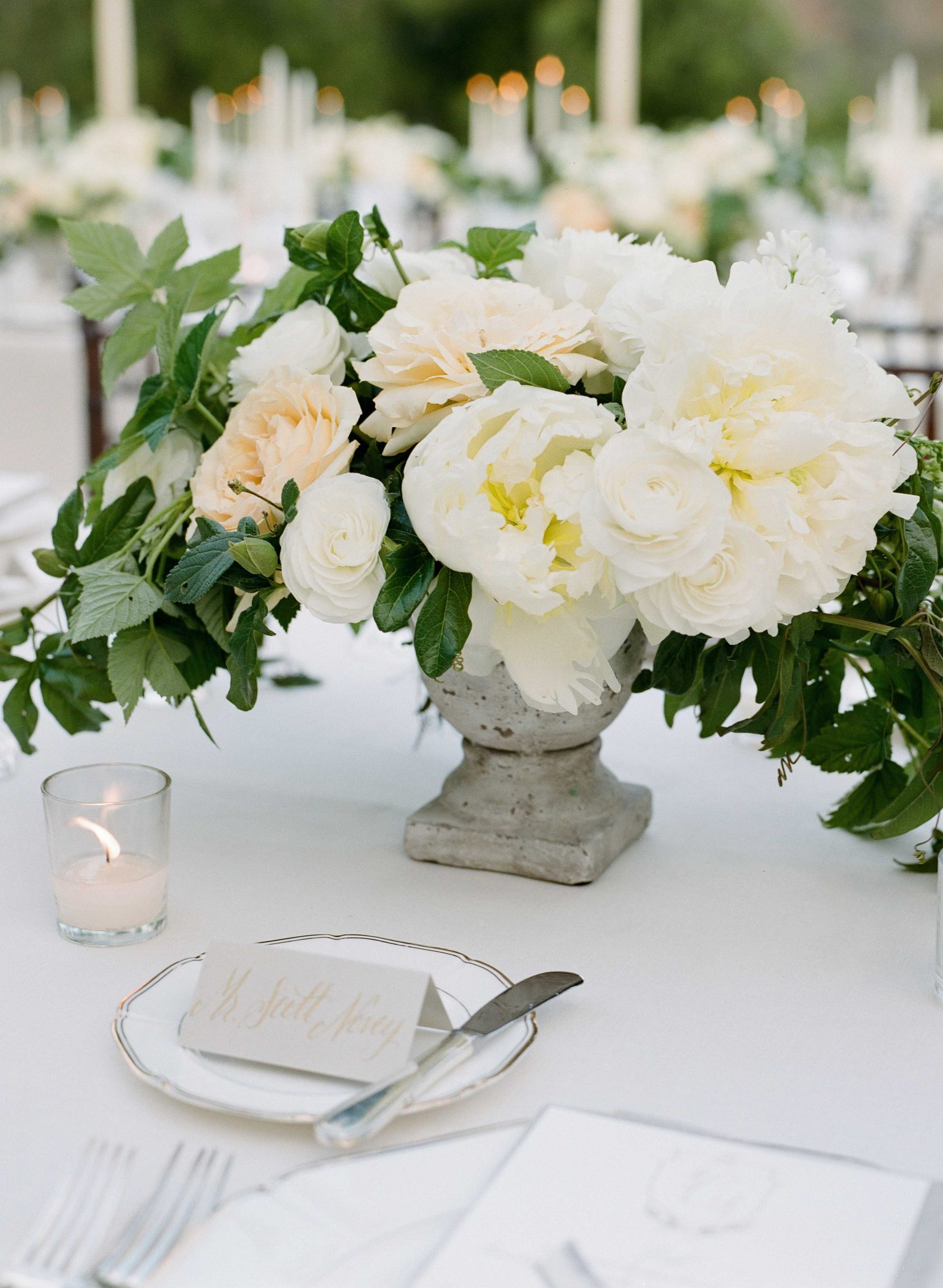 spring wedding flowers - peony centerpieces joel serrato