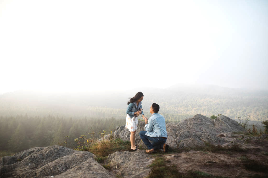perfect proposals mountain top view