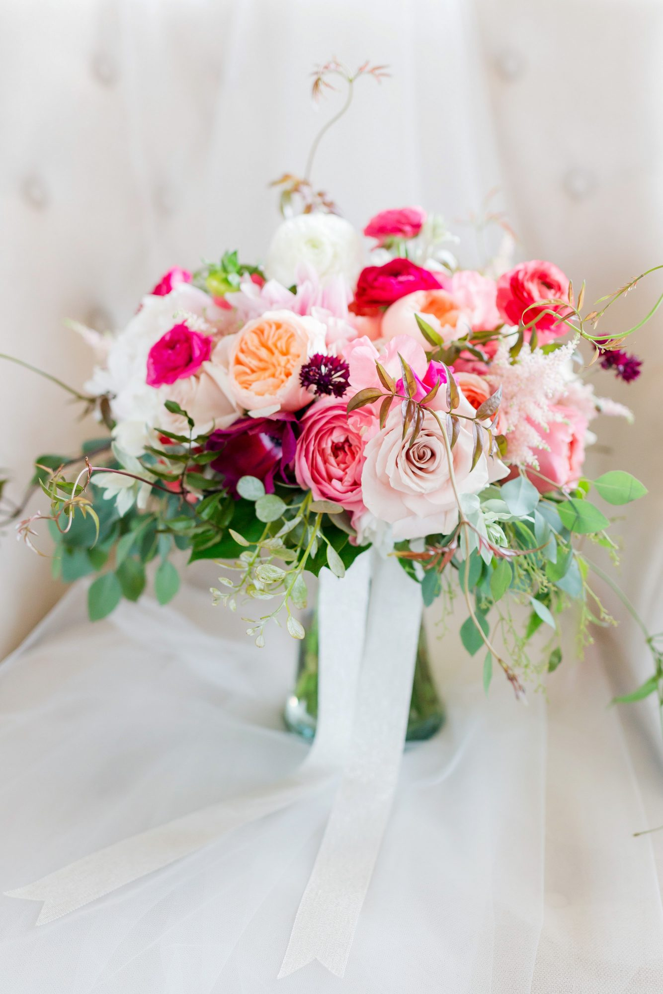 overgrown wedding bouquet