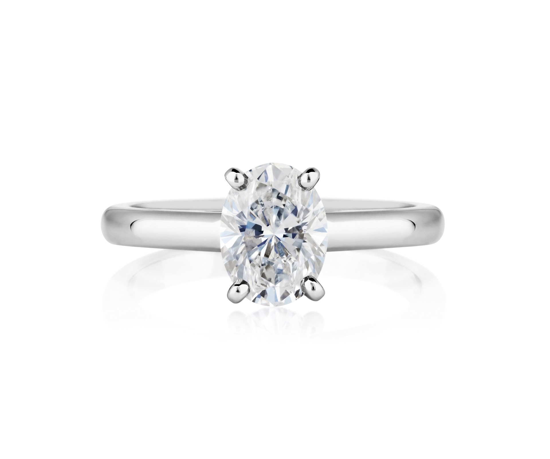 De Beers DB Classic Oval Cut Ring