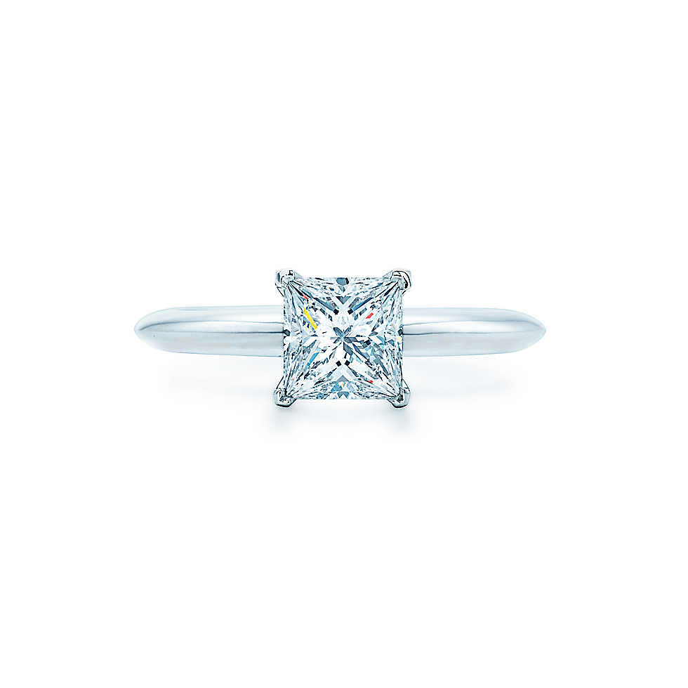 princess cut ring tiffany co solitaire