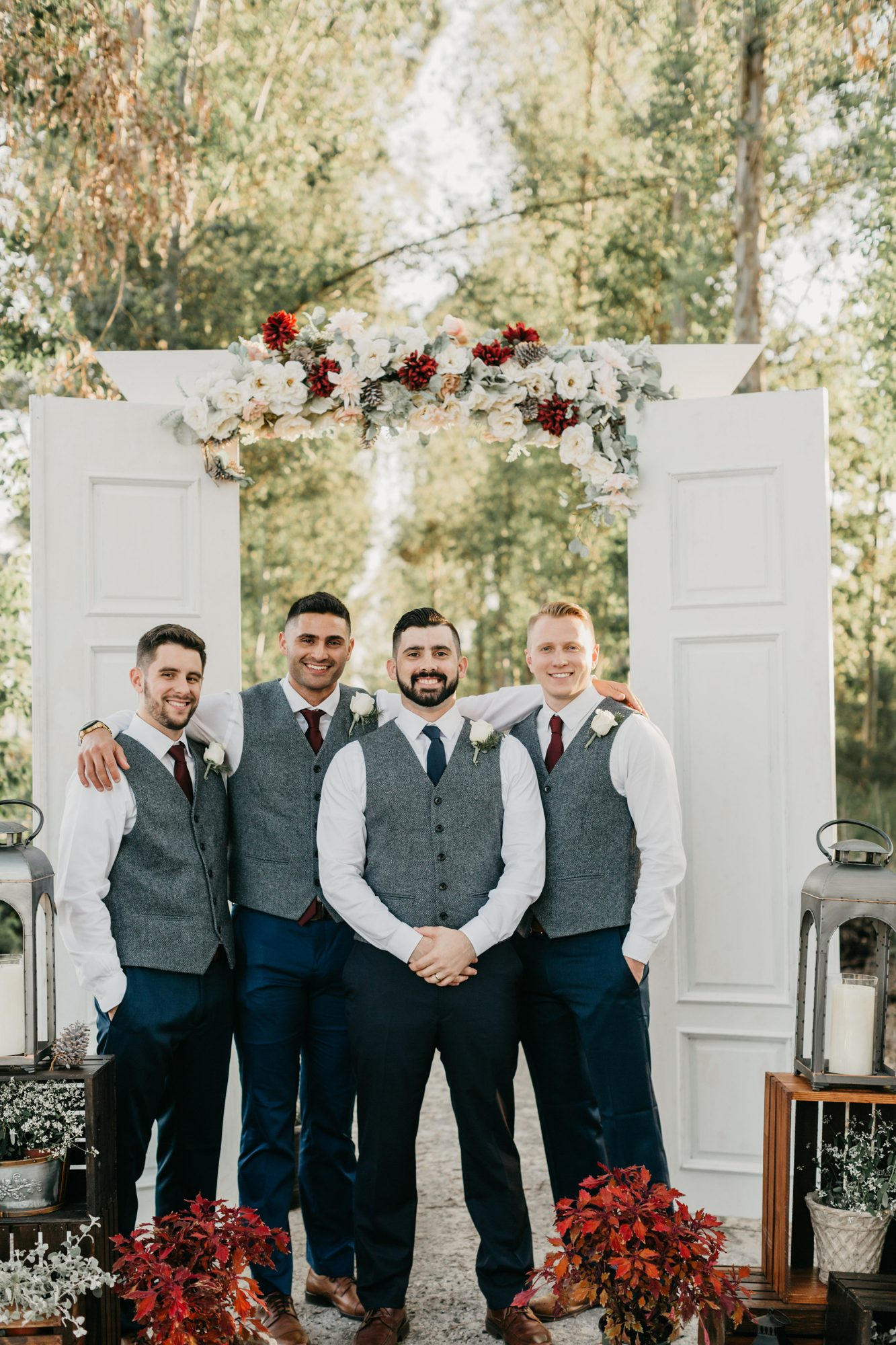 Red Groomsmen Attire