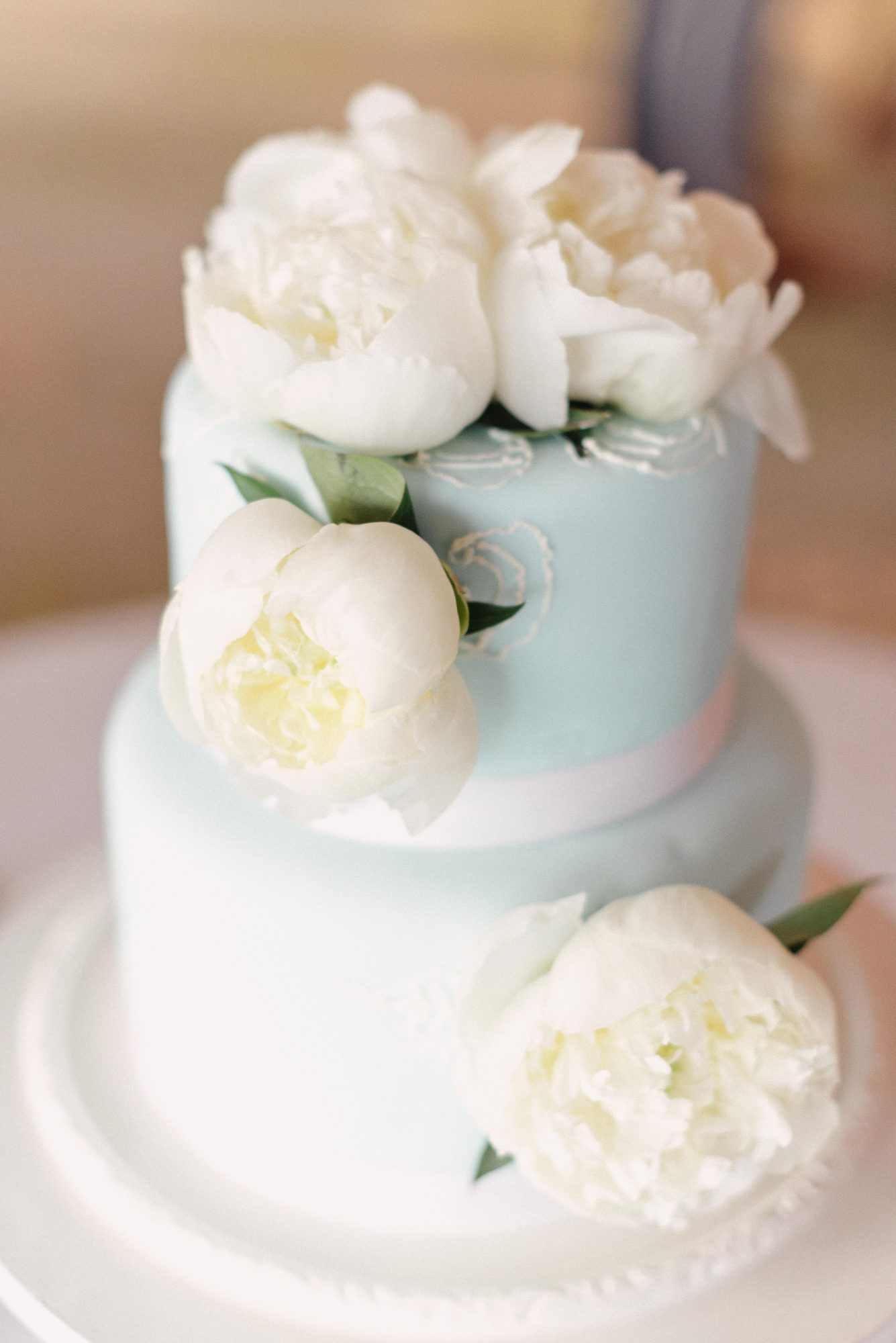 lush cake with flowers