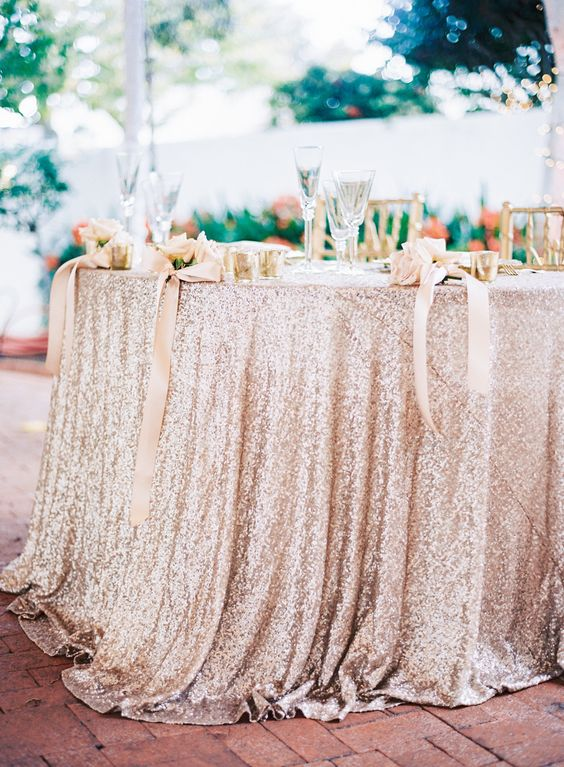 sparkling tablecloth