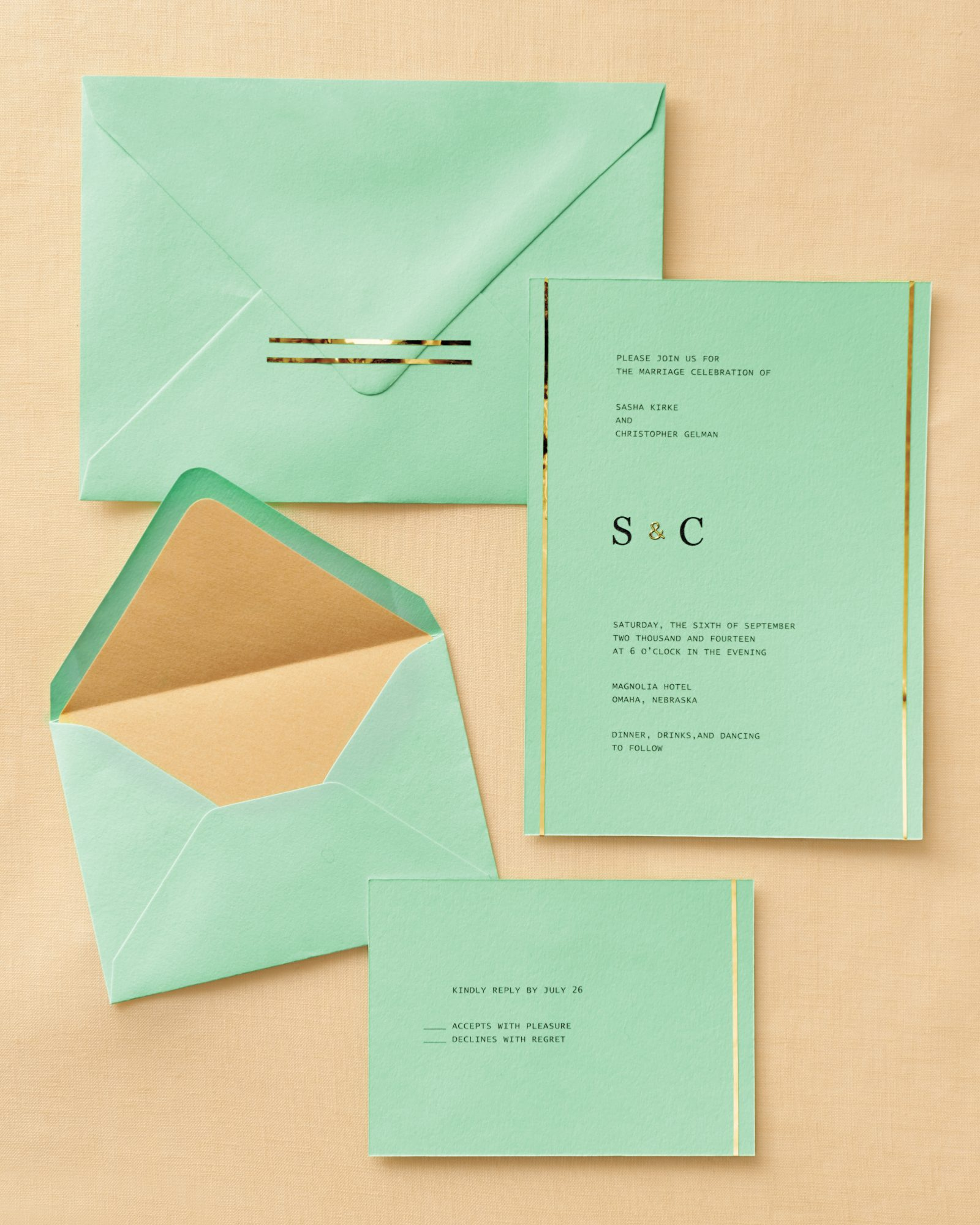 Gold-Topped Stationery