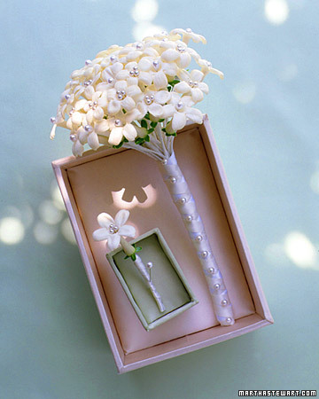 Stephanotis Boutonniere and Bouquet