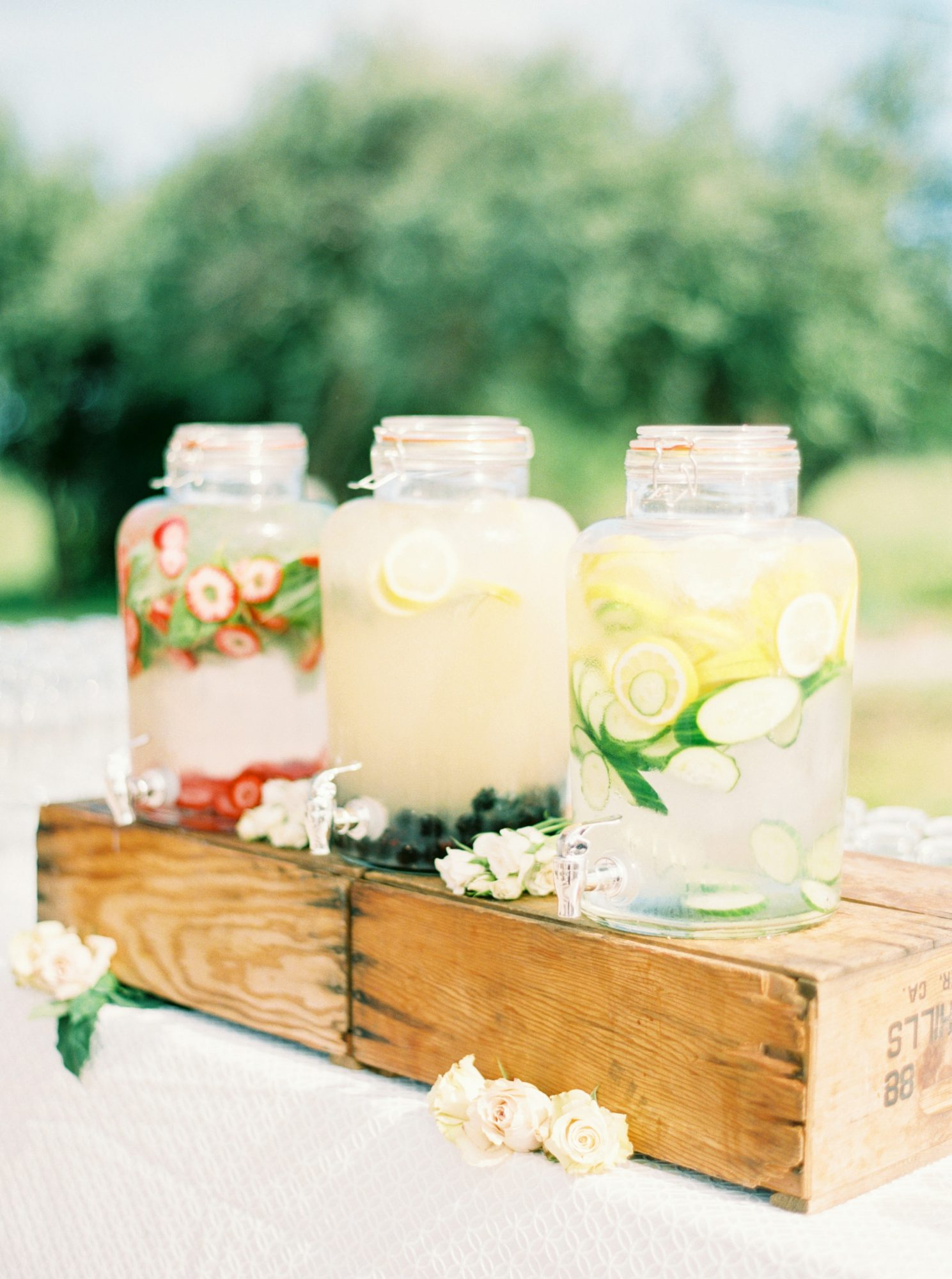 jars of flavored water
