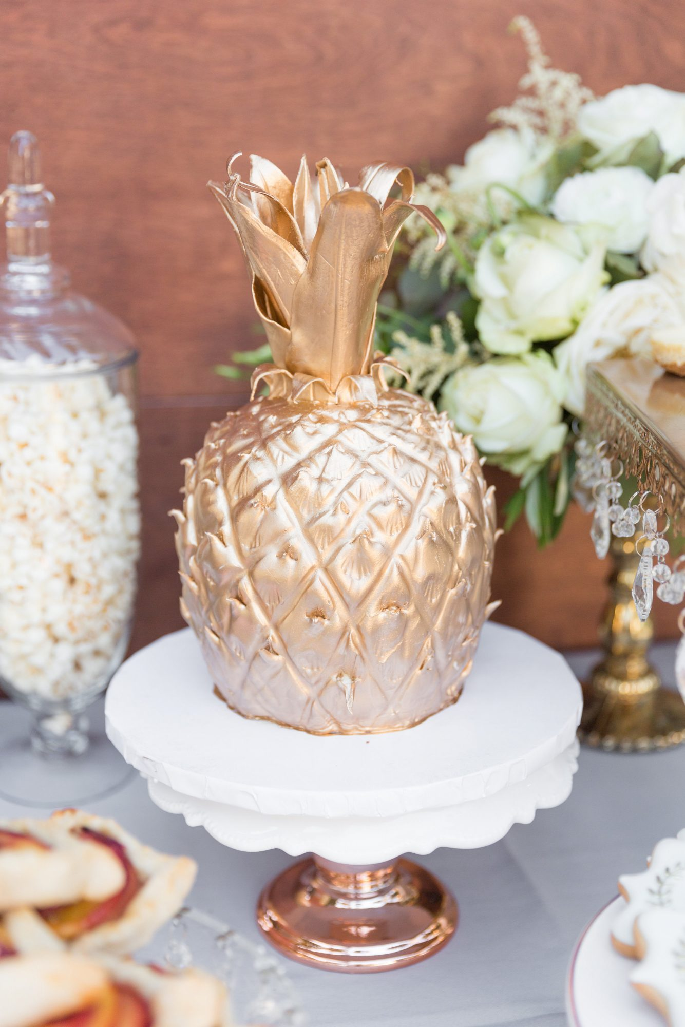 tropical gold pineapple cake