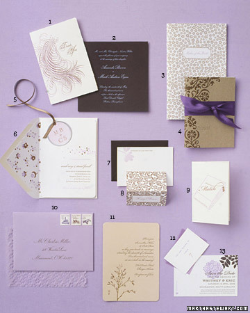 Lilac and Brown Stationery