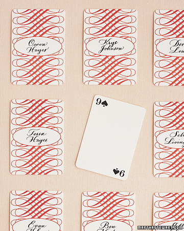 Playing Card Seating Cards