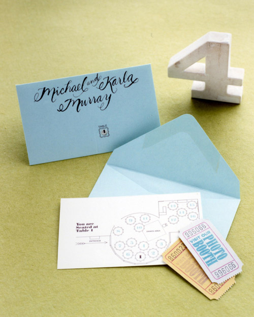 Table Numbers and Photo-Booth Tickets
