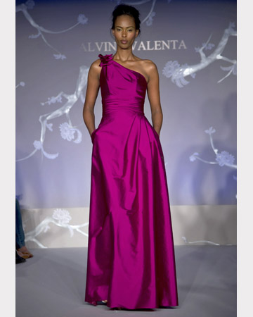 Fuchsia Asymmetrical Long Dress