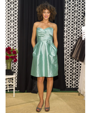 Sea Foam Strapless Dress