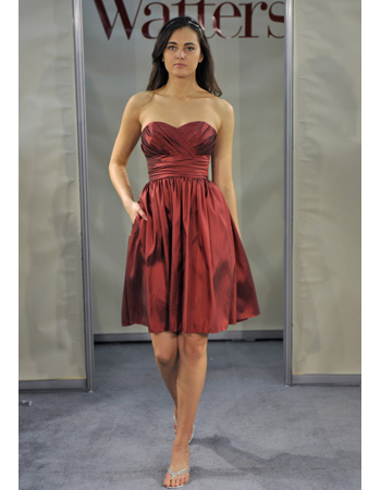 Short Bridesmaid Dress in Red