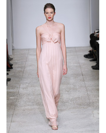 Pale-Pink Dress with Empire Waist
