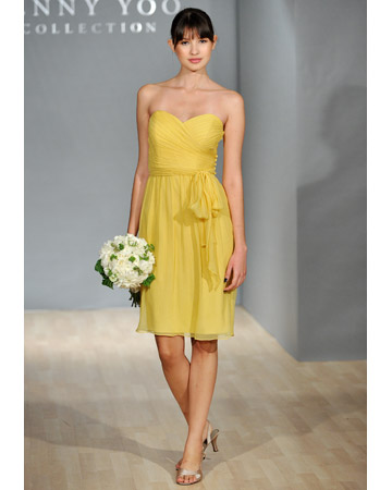 Strapless Yellow Dress