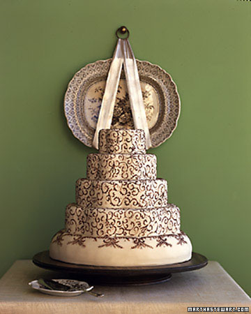 Transferware Wedding Cake