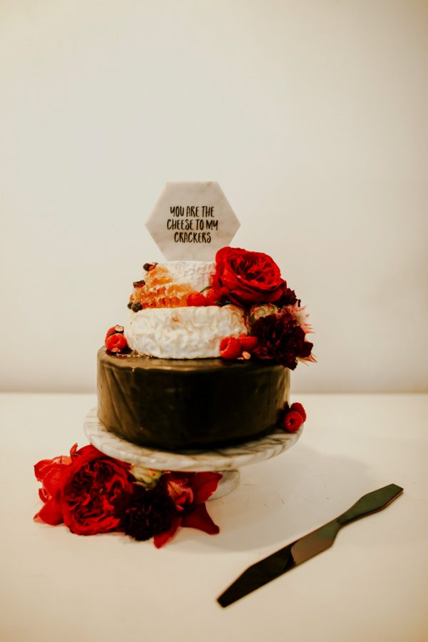 cheese wedding cake topper