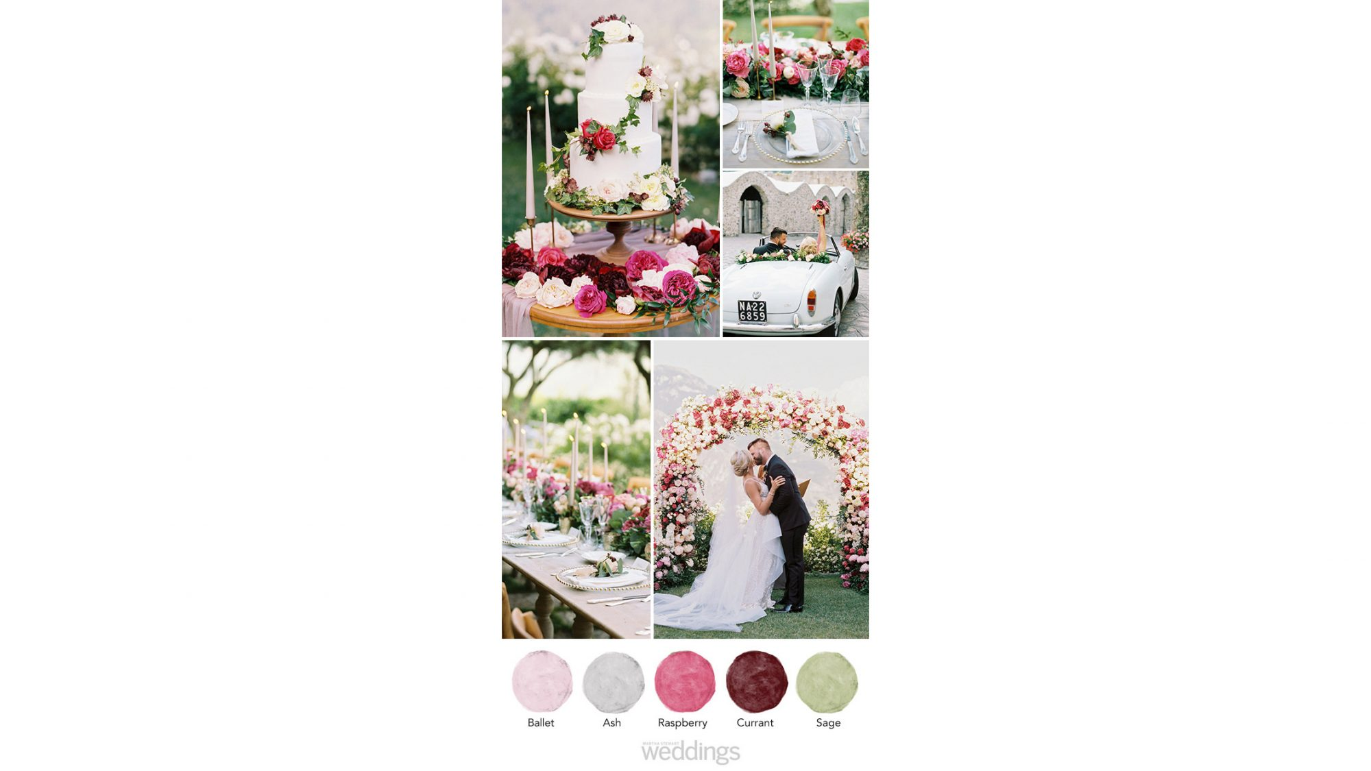 raspberry wedding color palette ideas