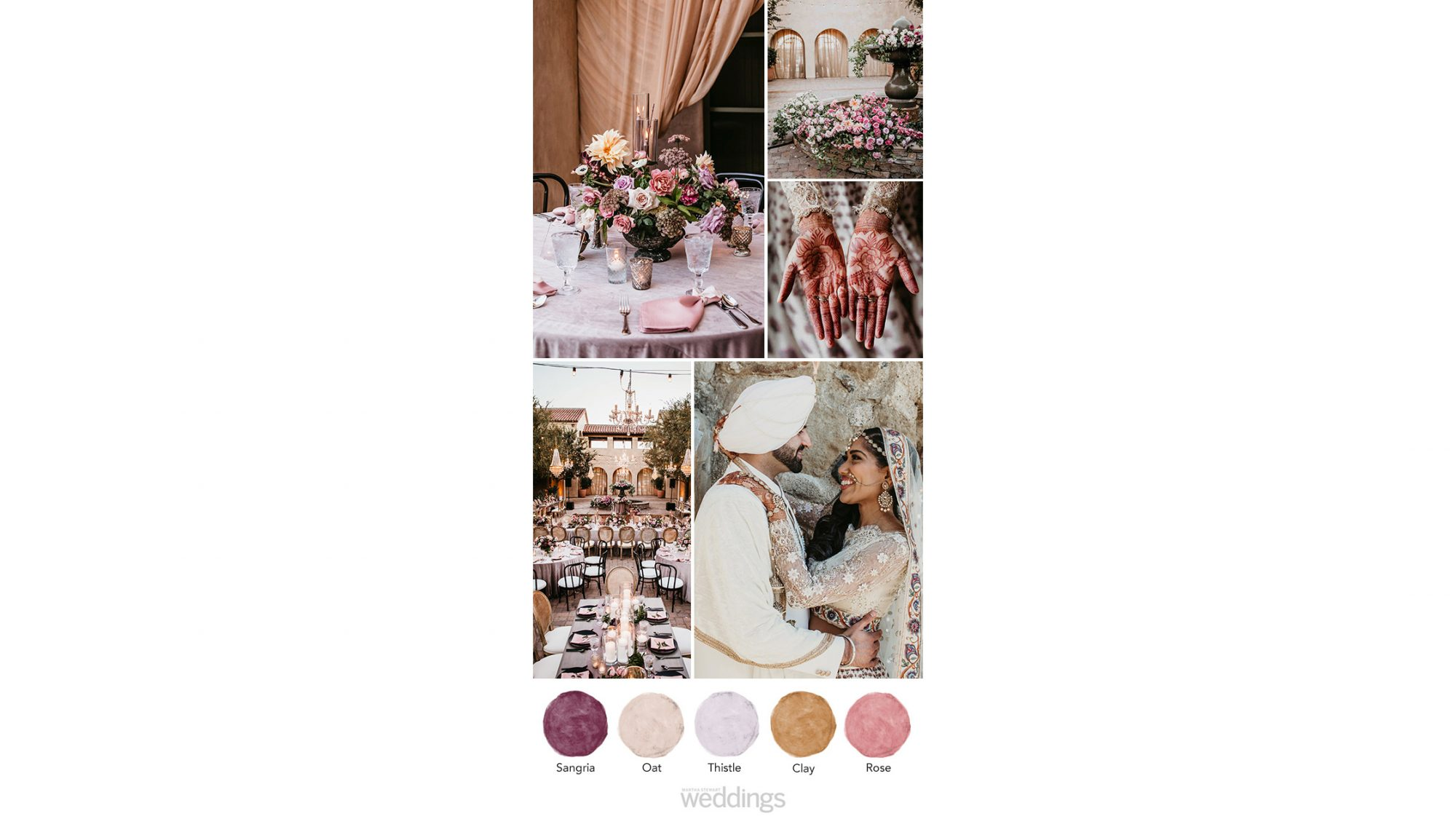 mauve-centric wedding color palette ideas
