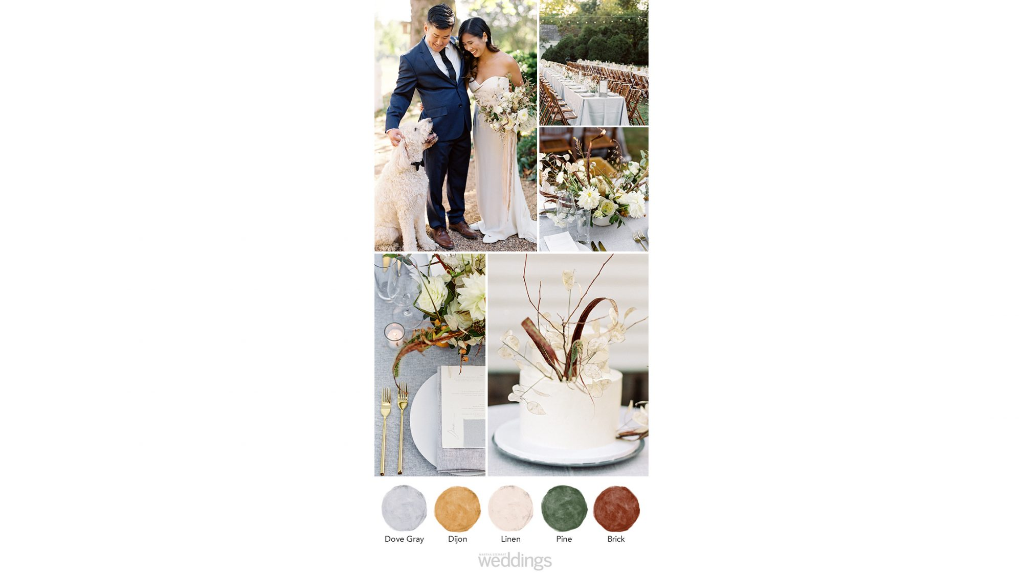 gray brown wedding color palette ideas