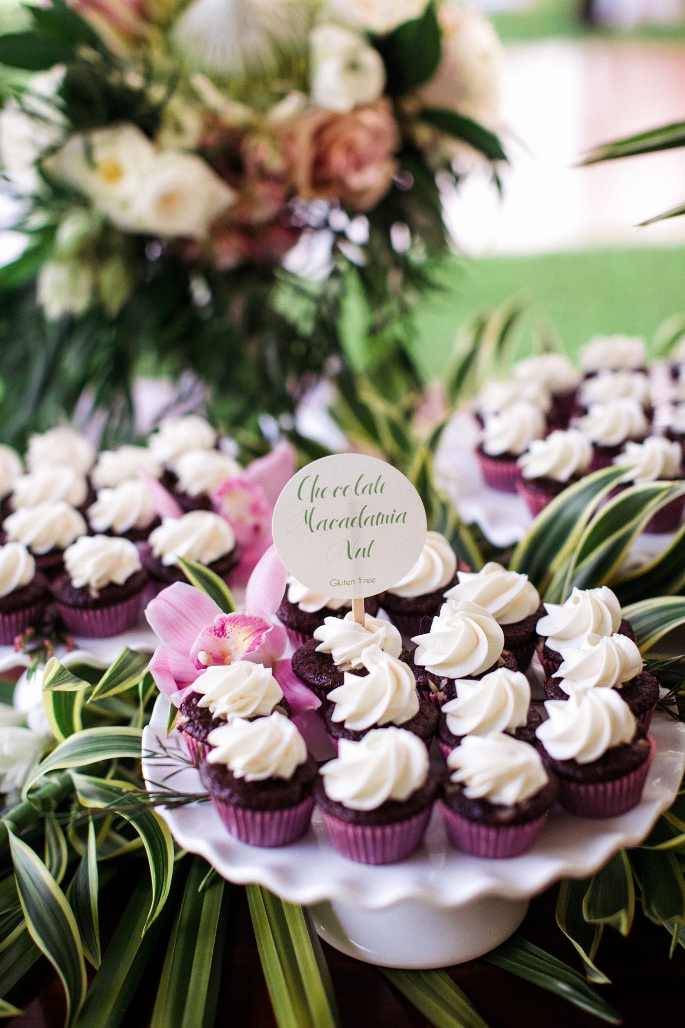 purple cupcakes with white frosting