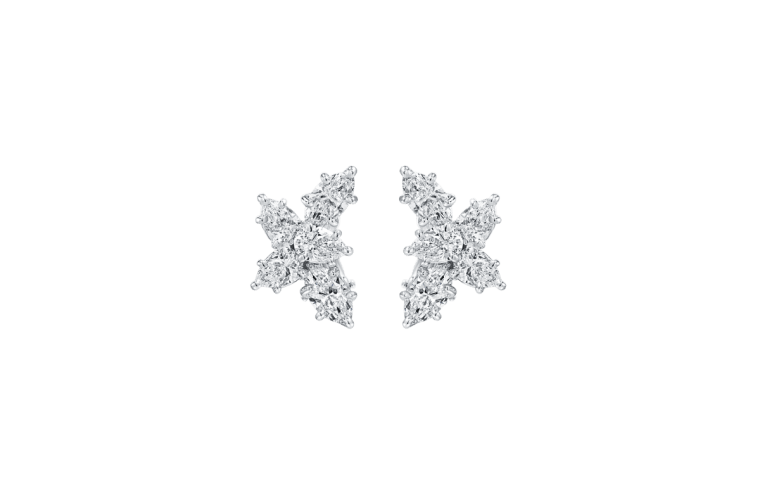 "Wedding Earrings for Every Bride, Harry Winston ""Winston"" Cluster Diamond Earrings"