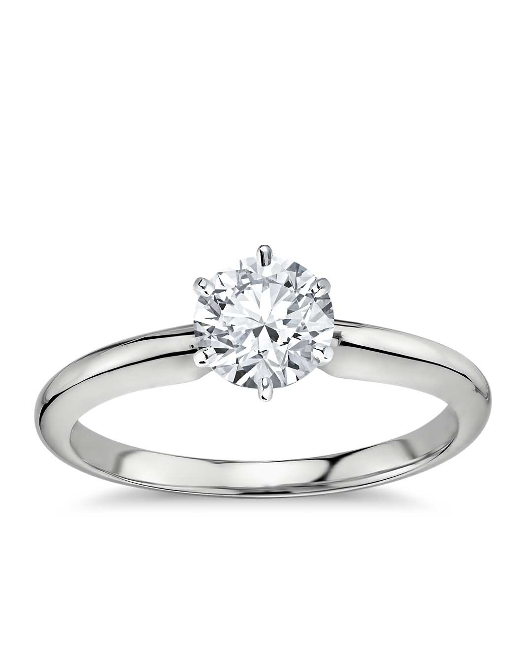 Blue Nile Classic Six-Prong Solitaire Engagement Ring