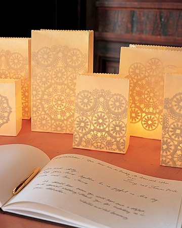 Lacy Paper Luminarias