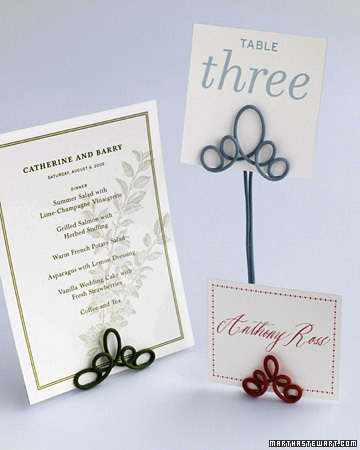 Wire Table Number Holders