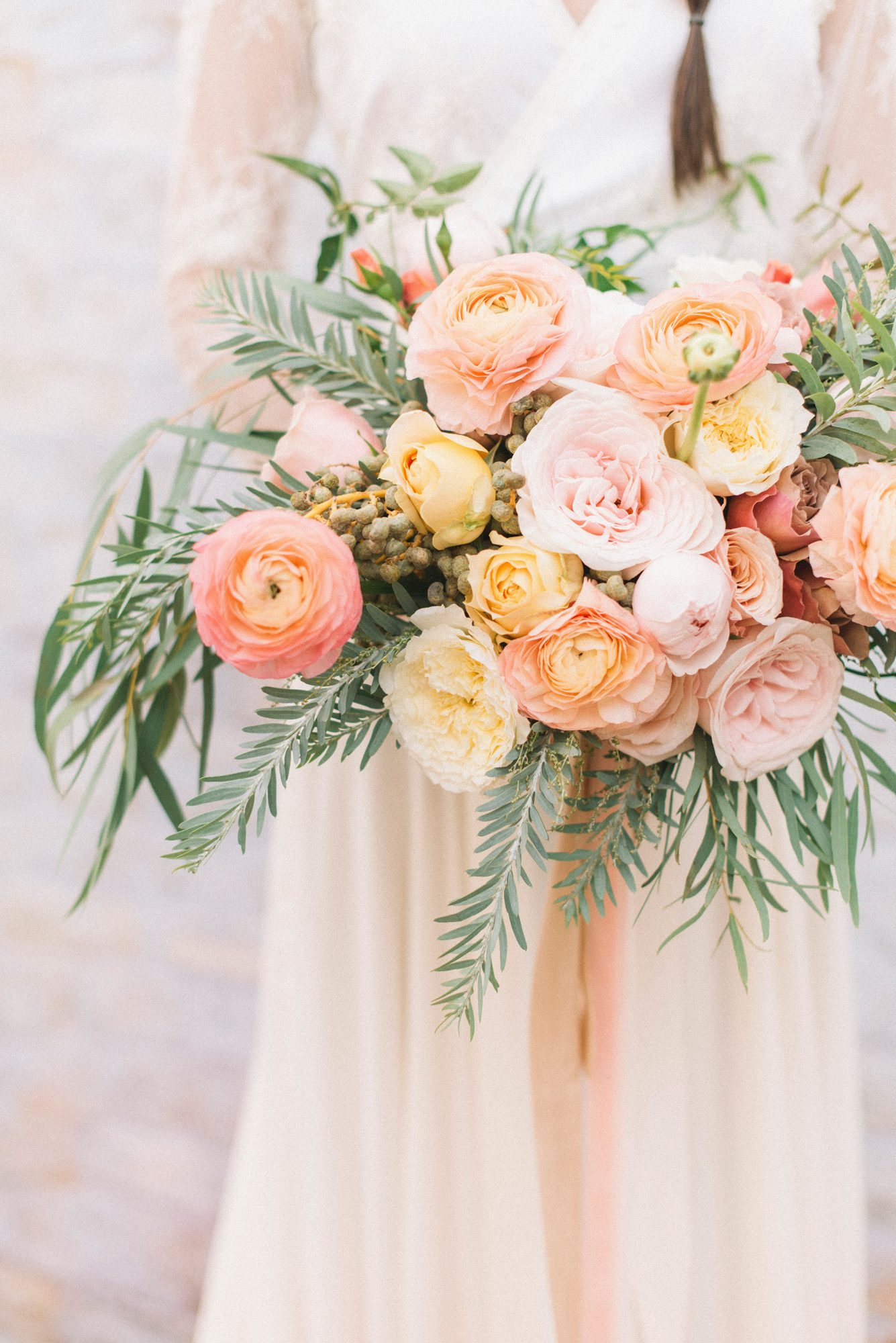 Pink and Orange Ranunculus Bouquet