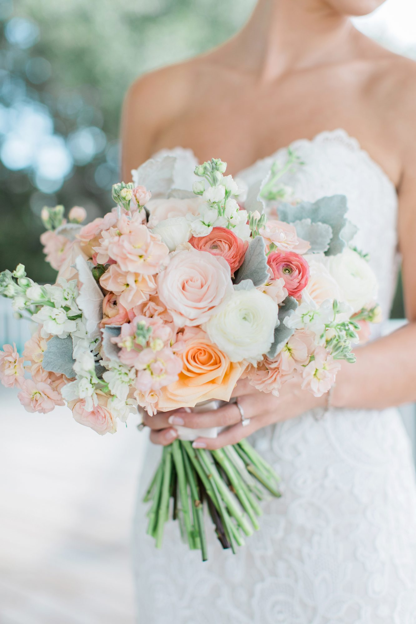 Classic Bouquet with White Ranunculus