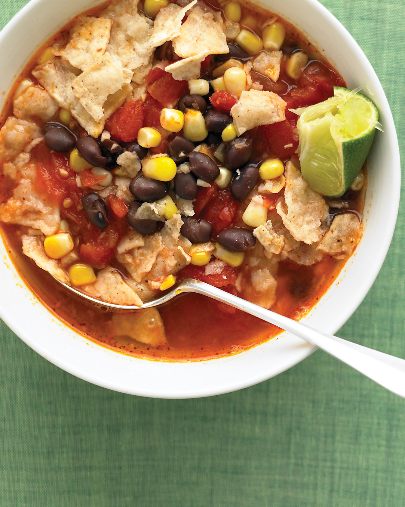 Tortilla Soup with Black Beans