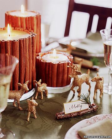 Glittered Deer Table Decorations