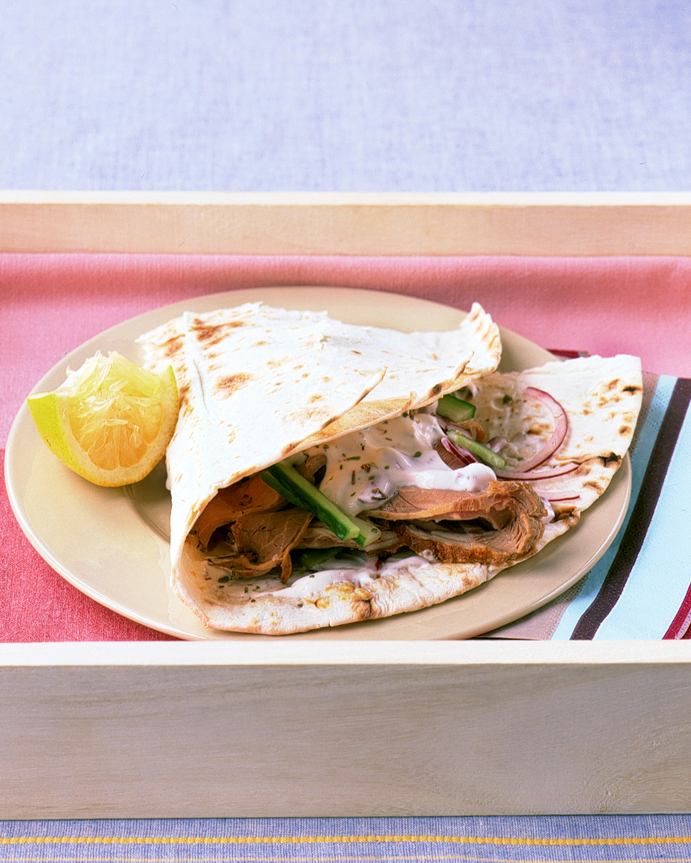 Lamb and Cucumber Wraps