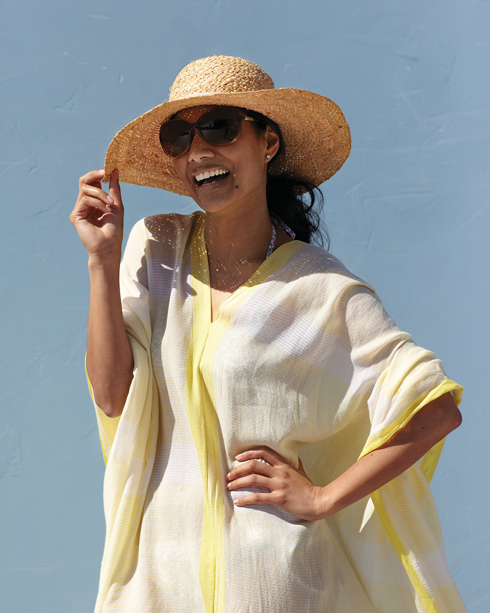 Cotton-Scarf Beach Cover-Up
