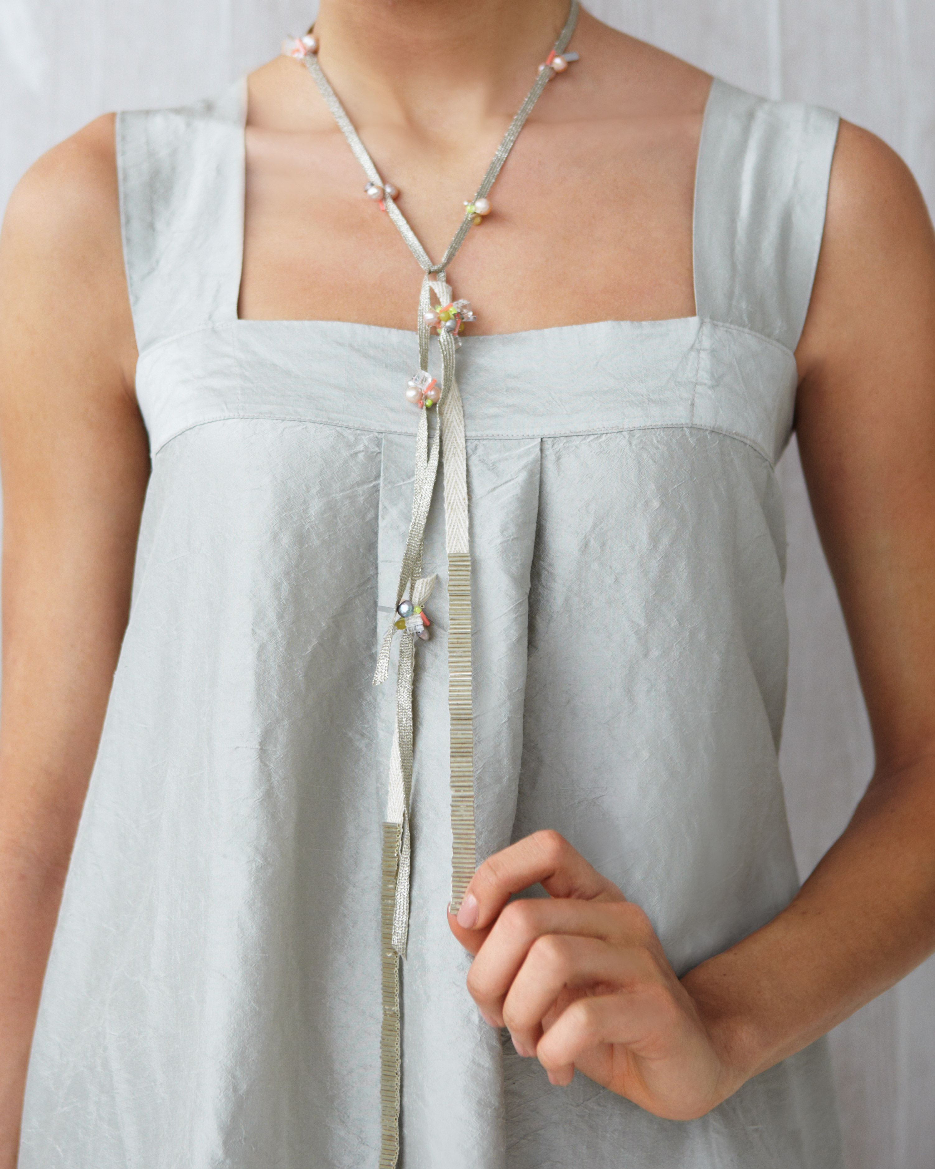 Shimmery Lariat Necklace