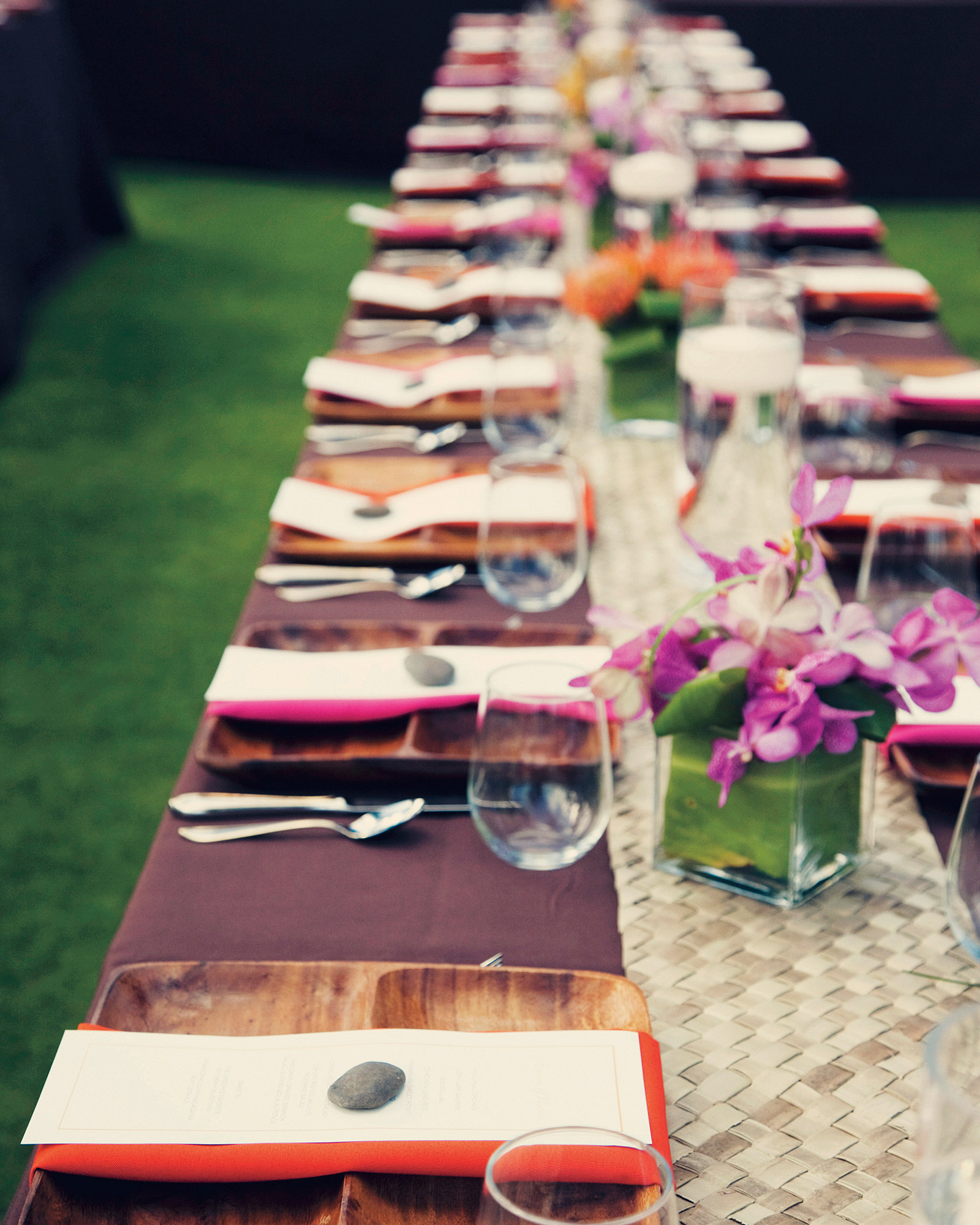 Colored Table Linens