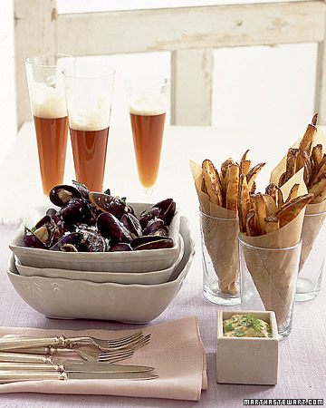 Mussels and Frites Menu