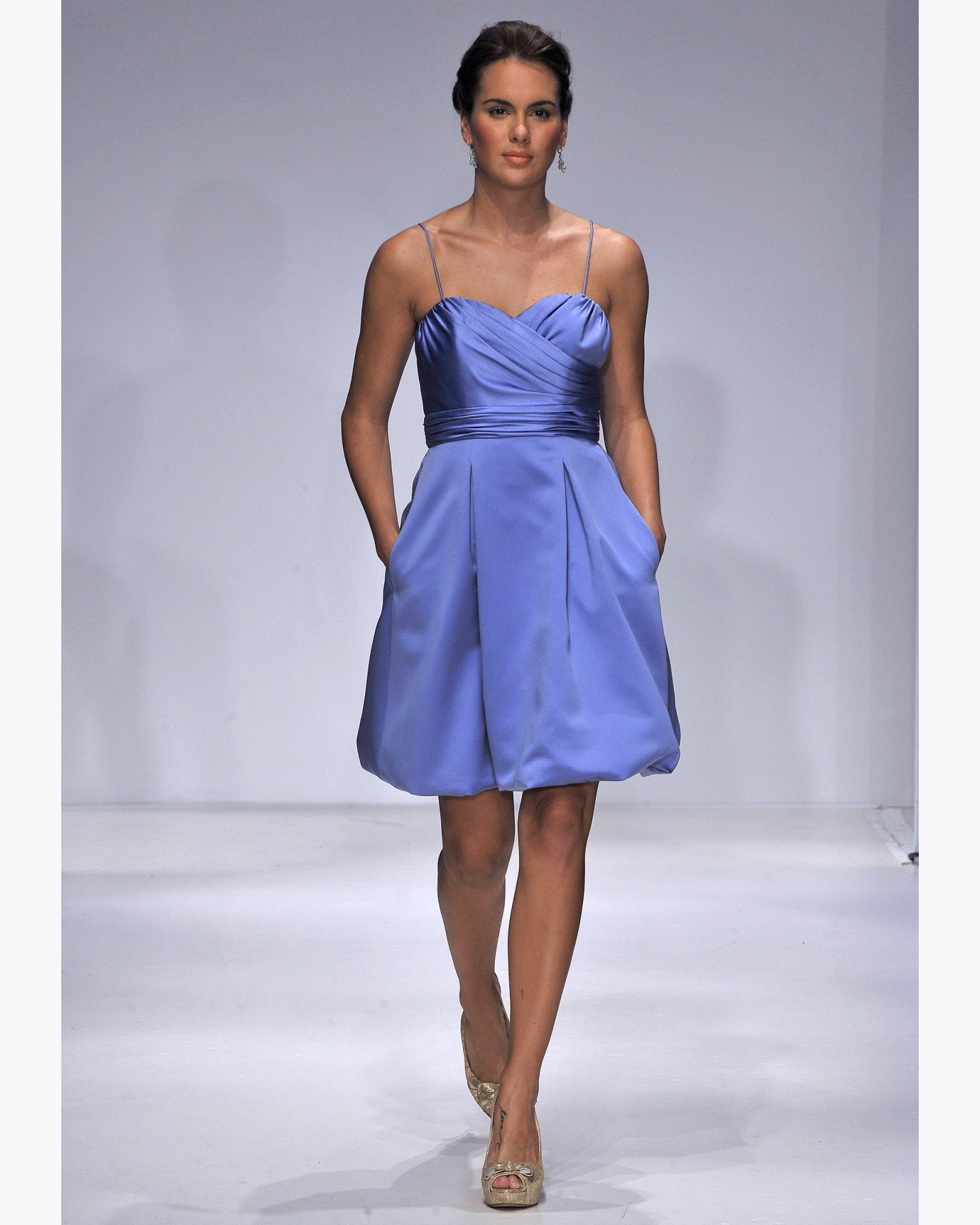 Short Periwinkle Bridesmaid Dress