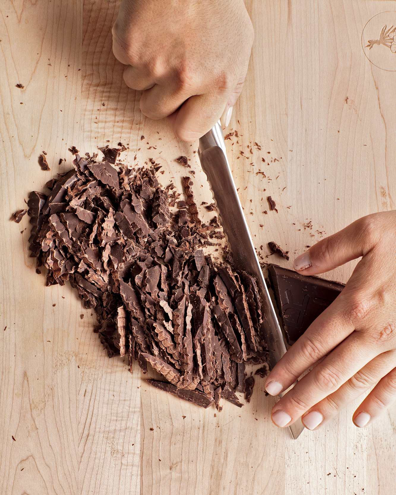 Step 1: Chop the Chocolate